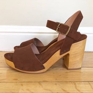 167eddece01b Madewell Shoes - Madewell The Jo Wooden Heel Platform Suede Sandals